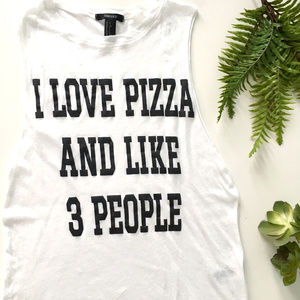 Forever 21 I Love Pizza Muscle Tank